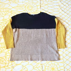 Shein Knit Color Block Oversized Sweater